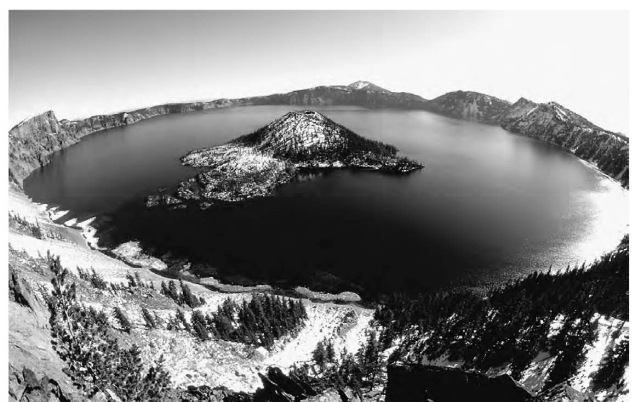Crater Lake in Oregon is the result of the collapse of a magma chamber after a volcanic eruption. This collapse forms a bowl-like crater called a caldera, which fills with water.