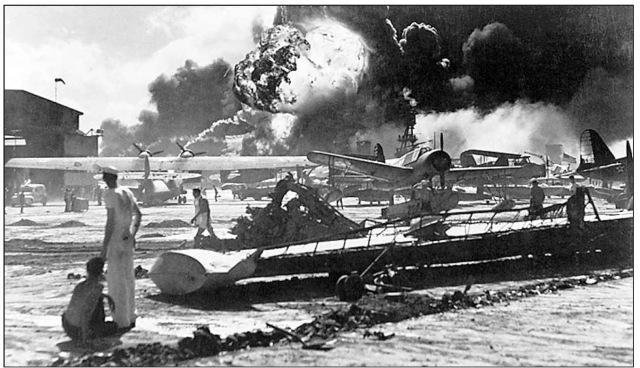 The Japanese bombing of the U.S. Naval Base at Pearl Harbor, on the island of Oahu, Hawaii, on December 7, 1941, brought the United States into World War II.