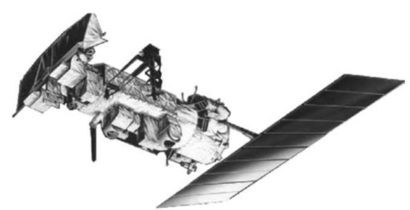 A polar-orbiting operational environmental satellite (POES). This spacecraft is a stable platform for high-resolution cameras and other sensors.