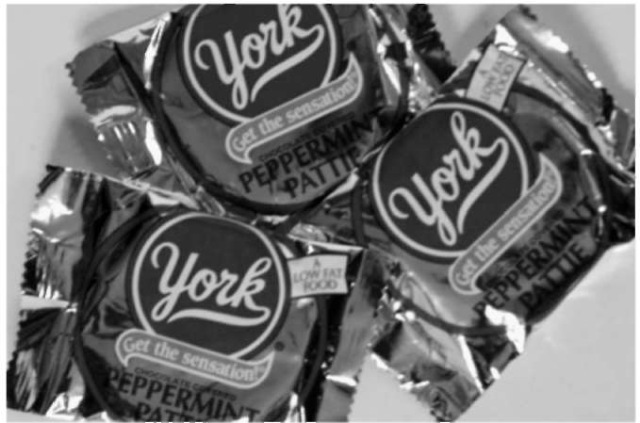 York Peppermint Patties.