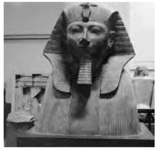 "Tuthmosis III, the ""Napoleon of Egypt,"" now in the Egyptian Museum in Cairo."