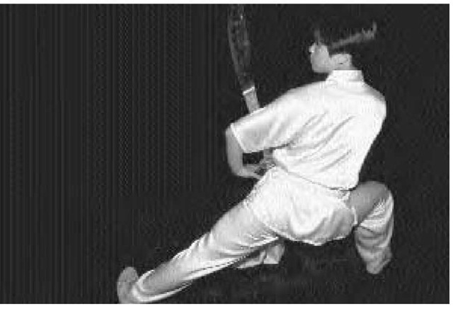 A martial artist in Beijing practices Chinese boxing, one of the oldest elements of Chinese culture still practiced.