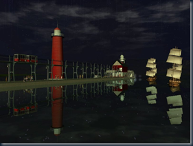 Lighthouse And Pier Scenery (by MGP) 002