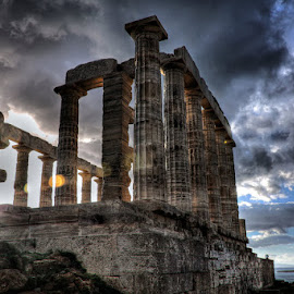 The Temple of Poseidon by Stamatis Gr - Buildings & Architecture Statues & Monuments