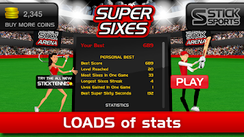 Screenshot of Stick Cricket Super Sixes