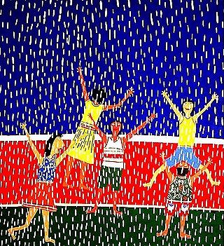 Brincando na chuva