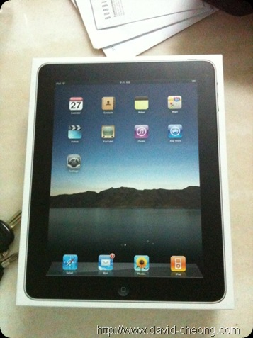 New ipad in box