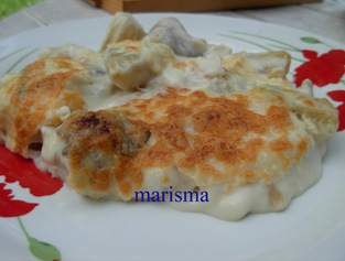 cardo con bechamel,racion