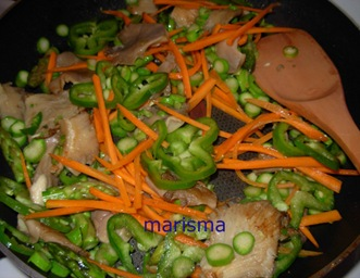 verdurada con carne picada, verduras
