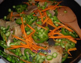 verdurada con carne picada, verduras