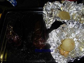 crema de berenjena con anchoilla asadas, (2)
