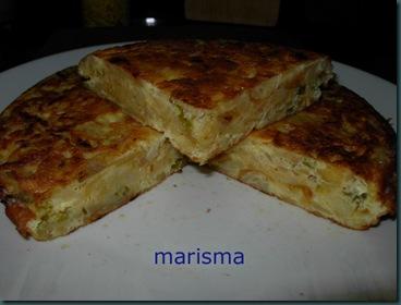 tortilla de patata con cebolla morada,ración