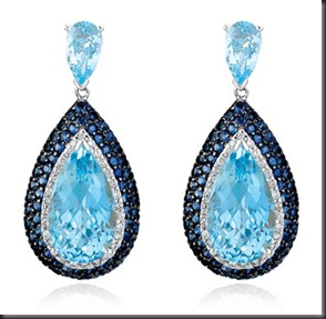 Topaz-diamond-earrings