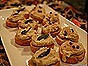 Garlic Toasts with Bean Puree, Sage & Pickled Shallots