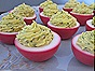 Beet-Dyed Deviled Eggs