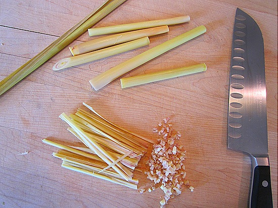 Finely Chopping the Lemongrass