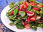 Salad with Strawberries, Radishes & Almonds