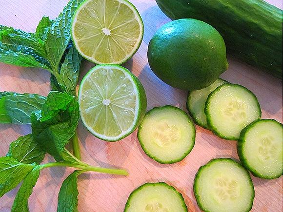 Cucumbers, Limes & Mint