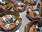 Roasted Shrimp with Capers and Feta in Artichoke Leaves
