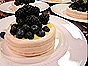 Meringue Pavlovas with Lemon Curd, Blueberries & Blackberries