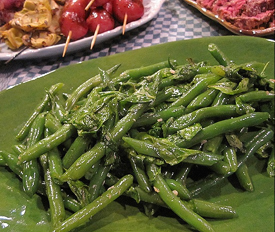 Green Beans with Arugula