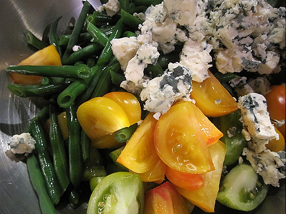 Blue Cheese, Green Beans & Tomatoes
