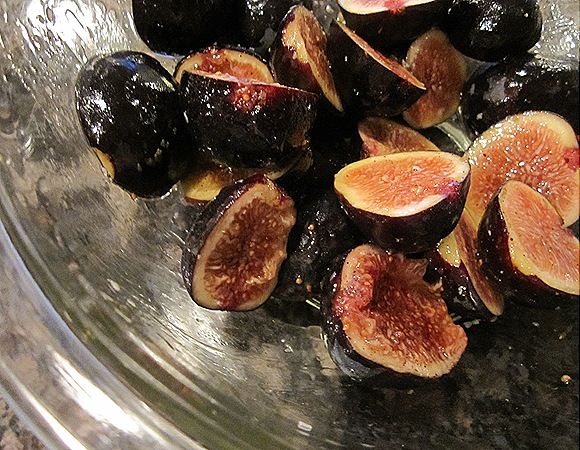 Figs tossed with extra-virgin olive oil, salt & pepper