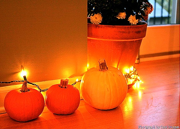 Pumpkins & Twinkle Lights