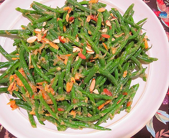 Green Beans with Caramelized Shallots & Almonds