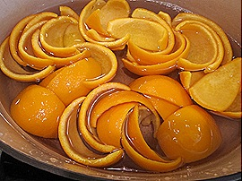 3. Orange Peels in Water, Bringing Back to a Boil