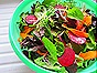 Mixed Greens with Beets, Carrots & Pickled Red Onions