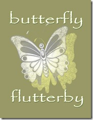 Butterfly Printable Olive