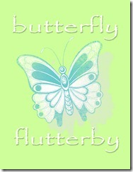 Butterfly Printable Green