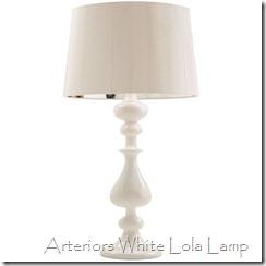 arteriors white lola lamp