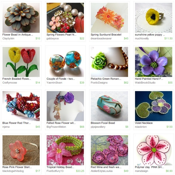 Etsy Picks: Fresh Flower Beads and Jewelry