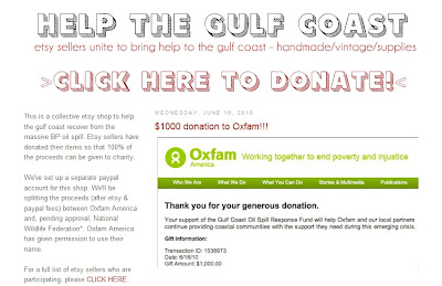 Help the Gulf Coast Raises Funds for Oxfam