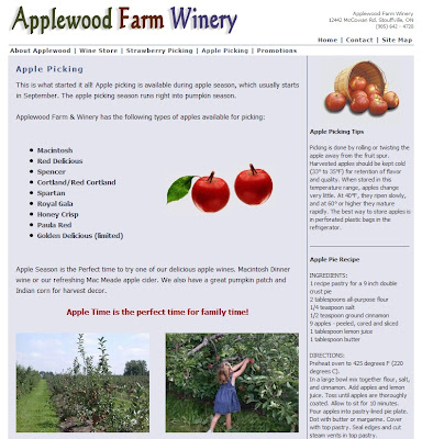 Applewood Farm Winery, Ontario