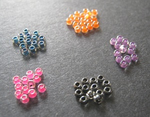 Assorted Color Lined Crystal 11/o Seed Beads