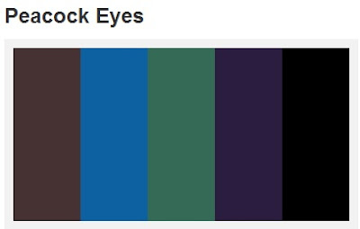 Peacock Eyes Color Palette