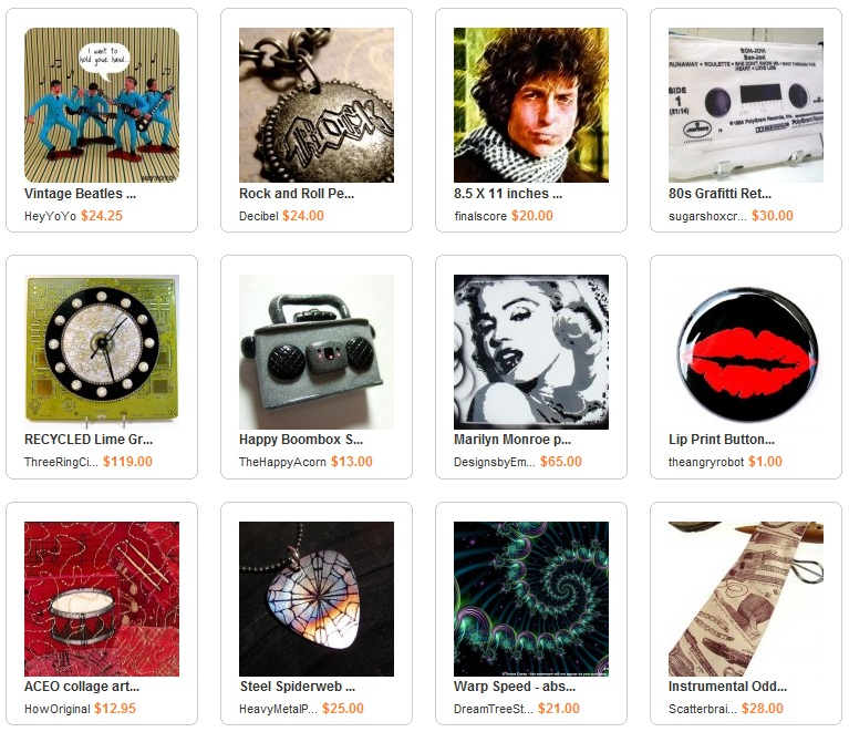 Art and Music ArtFire Collection