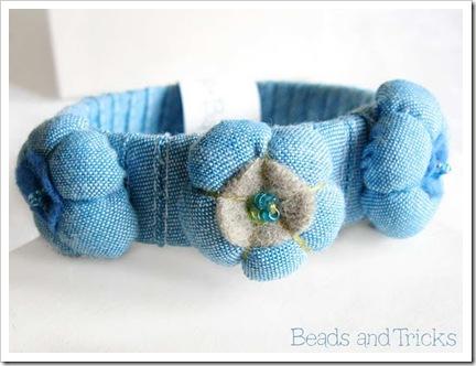 bracciale ecologico jeans
