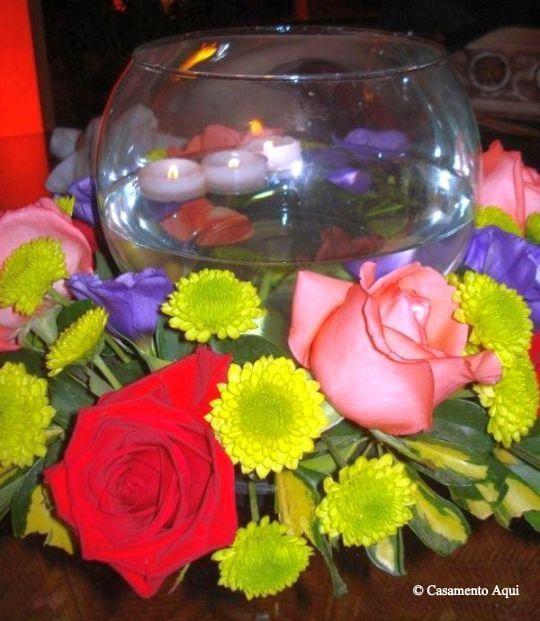 Decoracao De Mesa Para Casamentos~ Decoracao Casamento Flores Coloridas