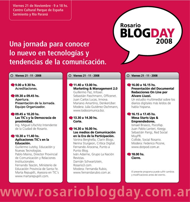 RBD programa Rosario Blog Day 2008
