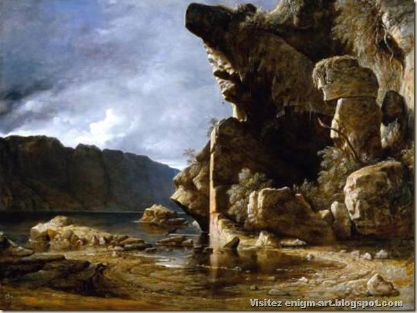 Francis Danby, Liensfiord, Norway: Calm  circa 1835