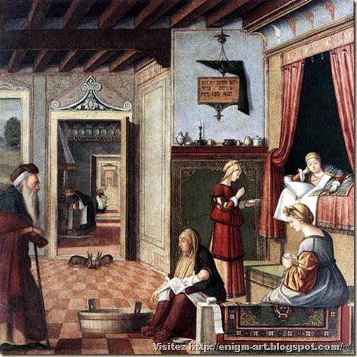 Carpaccio, naissance de la vierge, 1502 1507