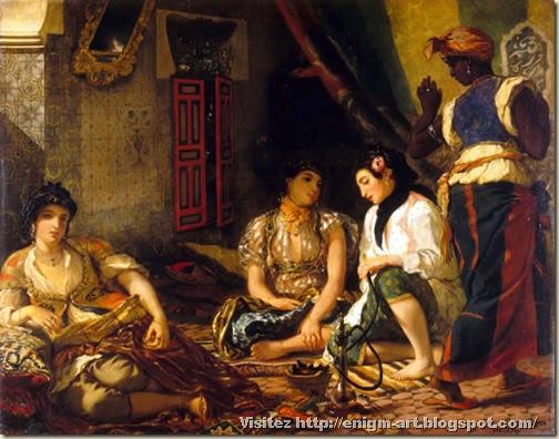 Eugène Delacroix, Les femmes d'Alger,  1834