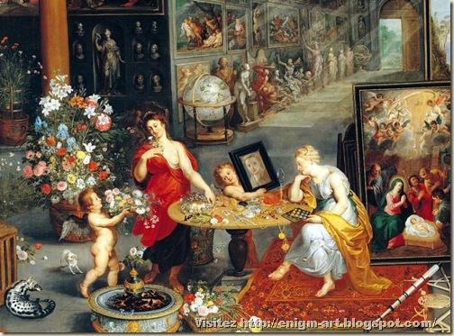 Bruegel Le Vieux, Allégorie des sens, 1618