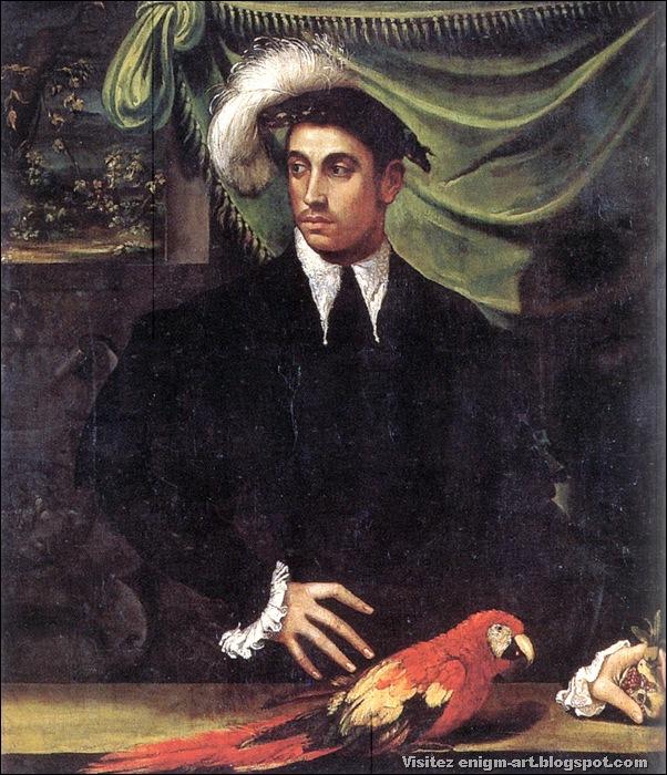 Nicolo dell'Abate, portrait de jeune homme, 1548-1552, Autriche