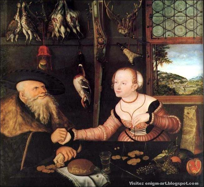 Lucas Cranach , La transaction pécuniaire, 1532
