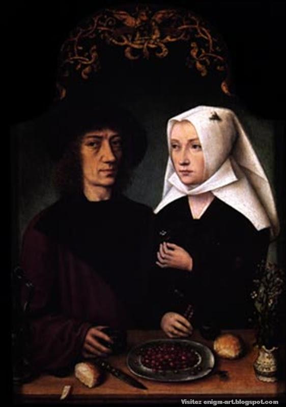 Maître de Francfort, Le peintre et sa femme, 1496